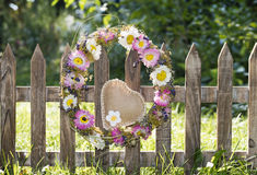 Wreath with heart Stock Photography