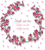 Wreath with hearts Royalty Free Stock Image