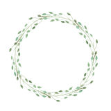 Wreath of herbs isolate on white background. Watercolor simple romantic wreath of herbs isolated on white background Royalty Free Stock Image