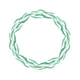 Wreath of herbs isolate on white background. Watercolor simple romantic wreath of herbs isolated on white background Stock Image