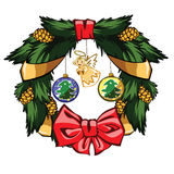 Wreath. I present to you a Christmas icon - Wreath Stock Photography