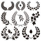 Wreath icons Royalty Free Stock Photos