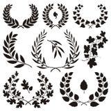 Wreath icons stock illustration