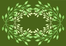 Wreath illustration Royalty Free Stock Photos