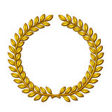 Wreath of laurels. Golden wreath of laurels. Vector EPS8 Royalty Free Stock Photos