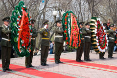 Wreath-laying ceremony Royalty Free Stock Images