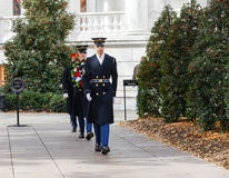 Wreath Laying Ceremony Arlington National Cemetery Stock Images
