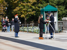 Wreath Laying Ceremony Arlington National Cemetery Royalty Free Stock Image