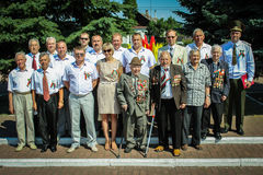 Wreath-laying and memorial service at the independence Day of the Republic of Belarus in the Gomel region July 3, 2016. The celebration of independence Day in stock photography