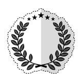 Wreath leafs crown emblem. Vector illustration design royalty free illustration