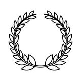 Wreath leafs crown emblem Stock Images