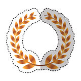 Wreath leafs crown emblem Royalty Free Stock Photography
