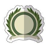 Wreath leafs crown emblem Stock Photos