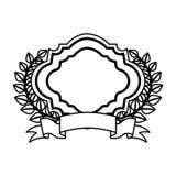 Wreath leafs crown emblem Stock Image