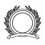 Wreath leafs crown emblem Stock Images