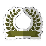 Wreath leafs crown emblem Stock Photography