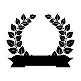 Wreath leafs crown emblem Royalty Free Stock Images