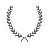 Wreath leafs crown icon. Vector illustration design royalty free illustration