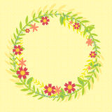 Wreath of leafs and flowers Stock Photography