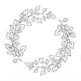 Wreath with leaves. And branches. Used for wedding invitation, greeting cards Stock Images
