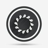 Wreath of leaves sign icon. Leaf circle symbol. Royalty Free Stock Image