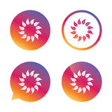 Wreath of leaves sign icon. Leaf circle symbol. Stock Photography