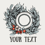 Wreath with leaves Stock Photos