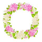 Wreath of lilac twigs Stock Image