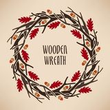 Wreath made of branches Royalty Free Stock Photography