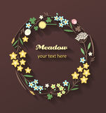 Wreath made of meadow flowers Stock Image