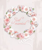 Wreath made of roses Royalty Free Stock Image