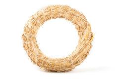 Wreath made with straw  Stock Images