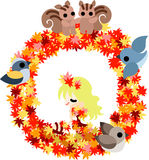The wreath of the maple Royalty Free Stock Photo