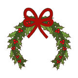 Wreath merry christmas decoration Royalty Free Stock Images