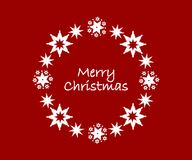 Wreath with merry christmas wishes clean design Royalty Free Stock Image