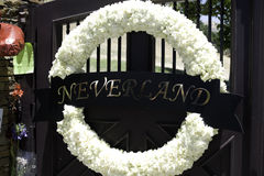 Wreath at the Neverland Ranch Stock Photo