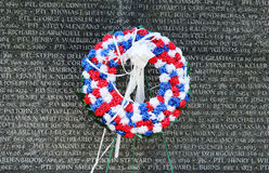 Wreath at  New York City Police Memorial Royalty Free Stock Photos