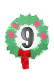 Wreath with number nine Stock Photo