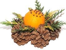 Wreath Of Pinecones Stock Photos