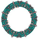 Wreath ornament vector Stock Photos