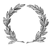 Wreath ornament vector Royalty Free Stock Image