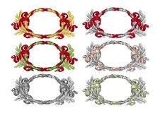 Wreath ornament vector Stock Images