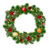 Wreath with ornaments Royalty Free Stock Photos