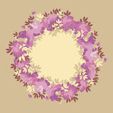 Wreath pale color with pink peopy flower. Royalty Free Stock Photography