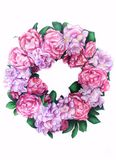 Wreath of peonies Royalty Free Stock Images
