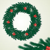 Wreath and piece of detail Stock Images
