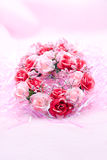 Wreath on a pink background Royalty Free Stock Images