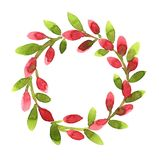 Wreath with pink buds Stock Photos