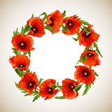 Wreath of Poppies Royalty Free Stock Images