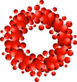 Wreath of red berries Stock Photos
